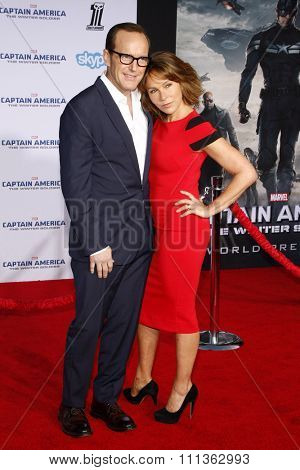 Clack Gregg and Jennifer Grey at the Los Angeles premiere of