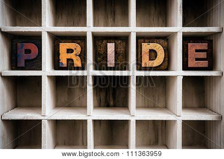 Pride Concept Wooden Letterpress Type In Drawer