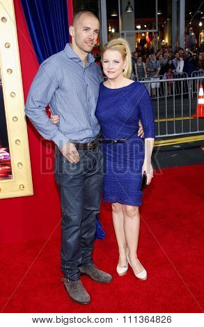 Melissa Joan Hart and Mark Wilkerson at the Los Angeles Premiere of