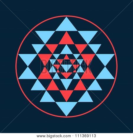 Sacred Geometry And Alchemy Symbol Sri Yantra