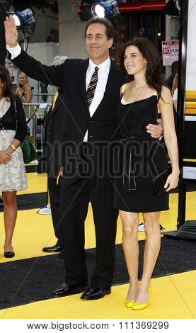 Jerry Seinfeld and Jessica Seinfeld attend the Los Angeles Premiere of