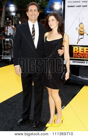 Jerry Seinfeld and wife Jessica attend the Los Angeles Premiere of