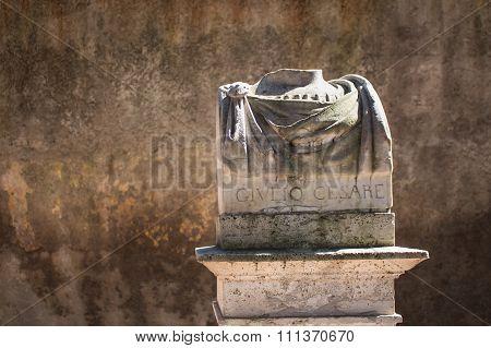 Statue Of Giulio Cesare, Rome, Italy