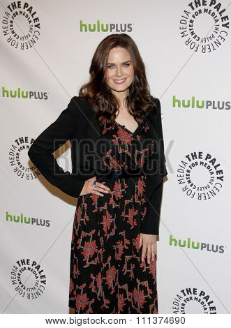 HOLLYWOOD, CALIFORNIA - Thursday March 8, 2012. Emily Deschanel at the PaleyFest 2012 Presents