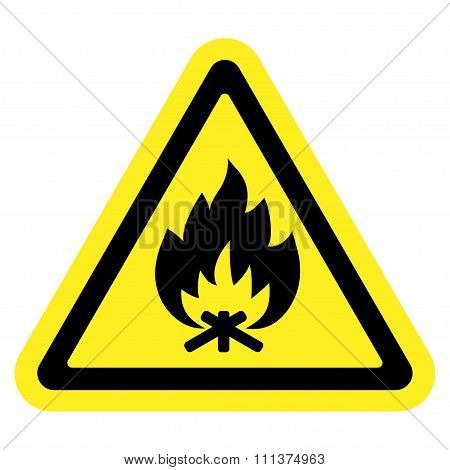 Fire Sign Yellow