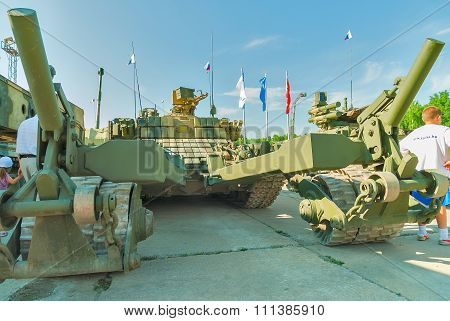Armored mine-clearing vehicle BMR-3M. Russia