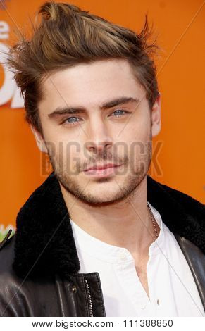 HOLLYWOOD, USA - FEBRUARY 19: Zac Efron at the Los Angeles Premiere of