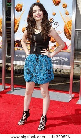 WESTWOOD, CALIFORNIA - Saturday September 12, 2009. Miranda Cosgrove at the Los Angeles premiere of