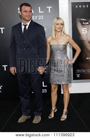 HOLLYWOOD, CALIFORNIA - Monday July 19, 2010. Liev Schreiber and Naomi Watts at the Los Angeles premiere of