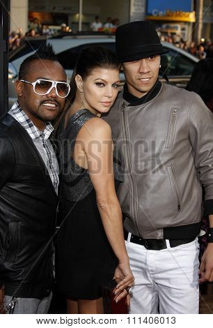28/4/2009 - Hollywood - Black Eyed Peas at the Los Angeles Premiere of