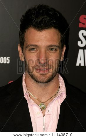 J.C. Chasez attends the 2005 Stuff Style Awards held at the Roosevelt Hotel in Hollywood, California on September 7, 2005.