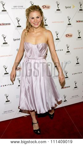 Anna Paquin attends 59th Primetime Emmy Awards Performer Nominee Reception held at the Pacific Design Center in West Hollywood, California, United States on September 14, 2007.