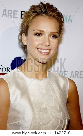 Jessica Alba at the US Doctors For Africa Honors The First Ladies Of Africa held at the Beverly Hilton Hotel in Los Angeles, United States, 210409.