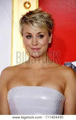 Kaley Cuoco-Sweeting at the Los Angeles premiere of 'The Wedding Ringer' held at the TCL Chinese Theatre in Los Angeles on Tuesday January 6, 2015.
