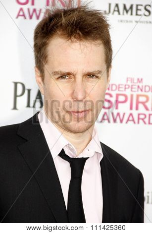 Sam Rockwell at the 2013 Film Independent Spirit Awards held at the Santa Monica Beach in Los Angeles, California, United States on February 23, 2013.