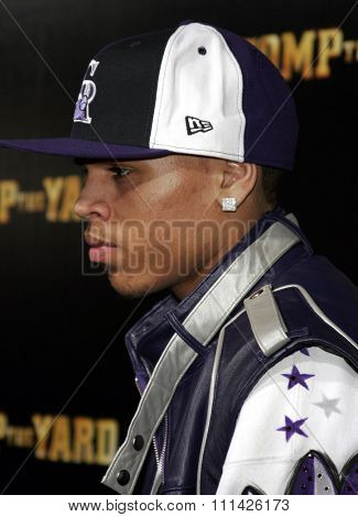 January 8, 2007. Chris Brown attends the Los Angeles of