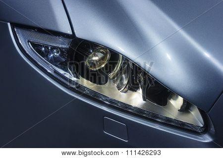 Car headlight with stars