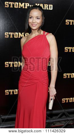 April Clark attends the World Premiere of