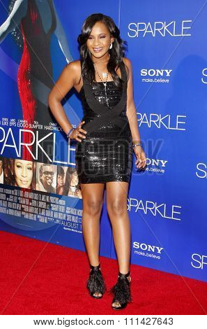 """Bobbi Kristina Brown at the Los Angeles premiere of """"Sparkle"""" held at the Grauman's Chinese Theatre in Los Angeles, United States on August 16, 2012."""