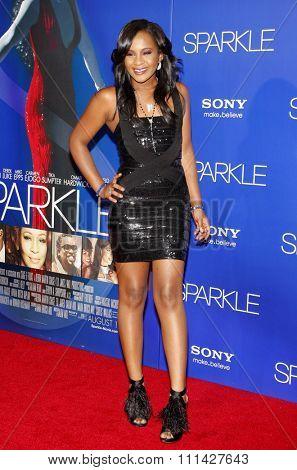 Bobbi Kristina Brown at the Los Angeles premiere of