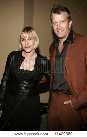 Patricia Arquette and Thomas Jane attend the Los Angeles Premiere of