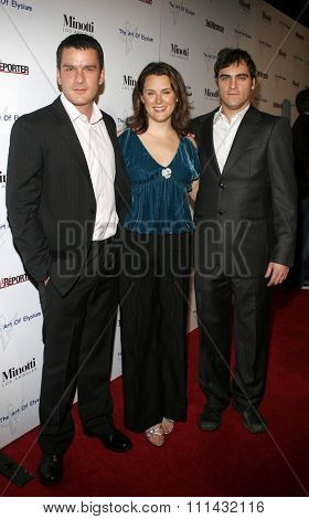 November 30, 2005. Balthazar Getty, Joaquin Phoenix and Jennifer Howell at the Art of Elysium