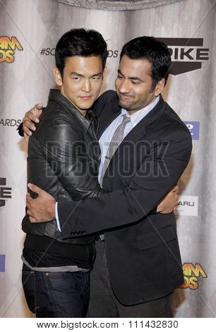 John Cho and Kal Penn at the Spike TV's 'SCREAM 2011' awards held at Universal Studios in Universal City, California on October 15, 2011.
