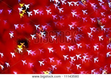 Defocused Airplane Background (bokeh)