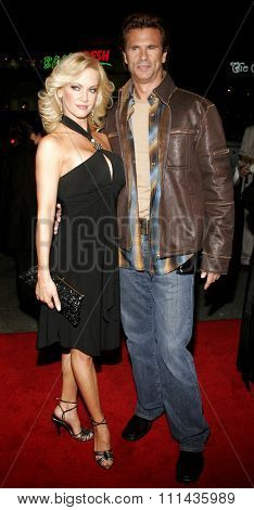 HOLLYWOOD, CALIFORNIA. February 2, 2006. Lorenzo Lamas and Barbara Moore attend the World Premiere of