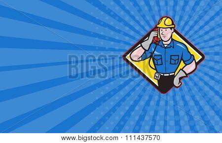 Business Card Telephone Repairman Lineman Worker Phone