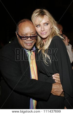 HOLLYWOOD. November 2, 2005. Quincy Jones and guest at the Paramount Pictures'