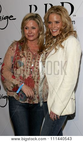 BEVERLY HILLS, CALIFORNIA. November 17, 2005. Kathy Hilton and Paige Adams-Geller at the