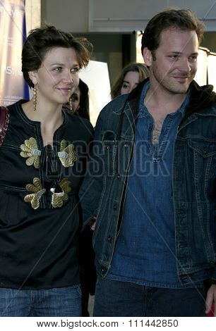 17 June 2004 - Hollywood - Maggie Gyllenhaal and Peter Sarsgaard at the 2004 Los Angeles Film Festival and the Los Angeles Premiere of 'Garden State'  at the Arclight Cinema in Hollywood.