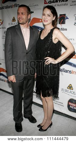BEVERLY HILLS, CALIFORNIA. Thursday May 11, 2006. Jacinda Barrett and Gabriel Macht attend the Australians In Film 2006 Breakthrough Awards held at the Avalon Hotel in Beverly Hills, United States.
