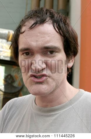 Quentin Tarantino at the Christopher Walken Honored With A Hand & Footprints Ceremony held a the Grauman's Chinese Theatre in Hollywood, California United States on October 08 2004.