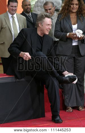 Christopher Walken Honored With A Hand & Footprints Ceremony held a the Grauman's Chinese Theatre in Hollywood, California United States on October 08 2004.