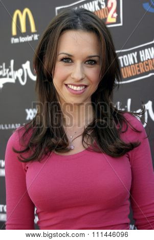Lacey Chabert at the Standup For Skateparks benefit held at Pinz Bowling Alley in Studio City, California on October 3, 2004.