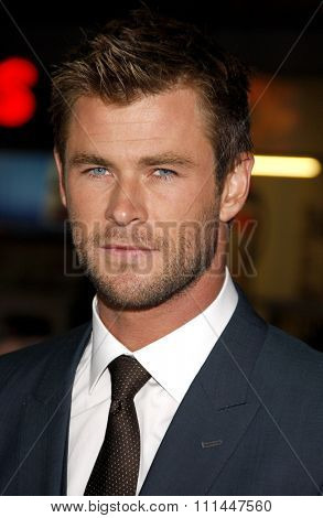 Chris Hemsworth at the Los Angeles premiere of 'Blackhat'  held at the TCL Chinese Theatre in Los Angeles on Wednesday January 8, 2015.