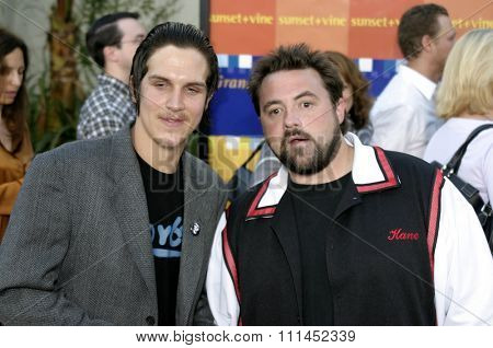 Jason Mewes and Kevin Smith at the Los Angeles premiere of