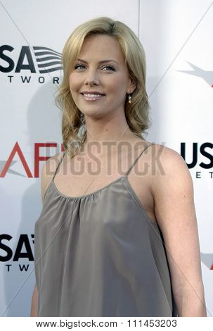 10 June 2004 - Hollywood, USA - Charlize Theron. 32nd AFI Life Achievement Award: A Tribute to Meryl Streep at the Kodak Theatre, Hollywood & Highland.