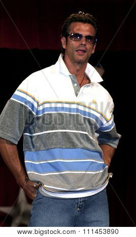 19 August 2004 - Hollywood, California - Lorenzo Lamas. Pelle Pelle's Celebrity Catwalk for charity hosted by Nicole Richie at the Palladium in Hollywood.