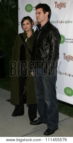 April 22, 2006. Daniel Gillies and wife Rachael Leigh Cook attend the opening of