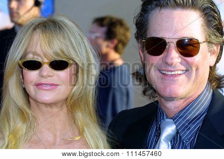 Kurt Russell and Goldie Hawn at the Los Angeles premiere of