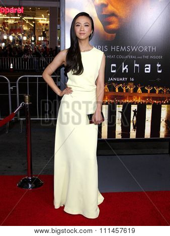 Wei Tang at the Los Angeles premiere of 'Blackhat'  held at the TCL Chinese Theatre in Los Angeles on Wednesday January 8, 2015.