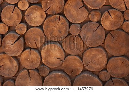 Decorative Background From The Beam And Log Logs
