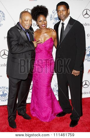 25/10/2008 - Beverly Hills - Quincy Jones and Denzel Washington at the 30th Anniversary Carousel Of Hope Ball held at the Beverly Hilton Hotel in Beverly Hills, California, United States.