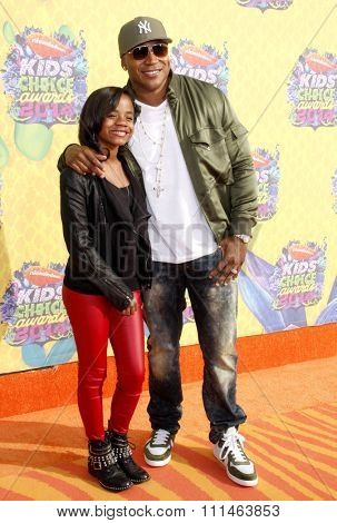 LL Cool J at the Nickelodeon's 27th Annual Kids' Choice Awards held at the USC Galen Center in Los Angeles on March 29, 2014 in Los Angeles, California.