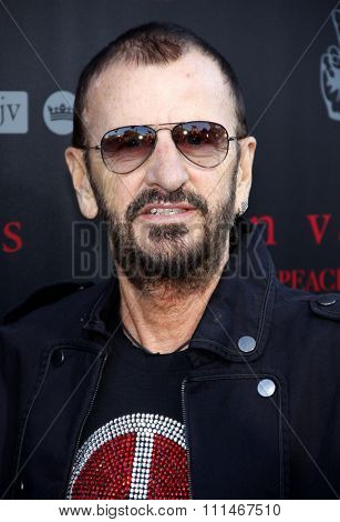 Ringo Starr at the John Varvatos #PeaceRocks Ringo Starr Private Concert  held at the John Varvatos in Los Angeles on September 21, 2014 in Los Angeles, California.