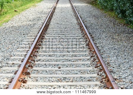 Closeup Of Railroad