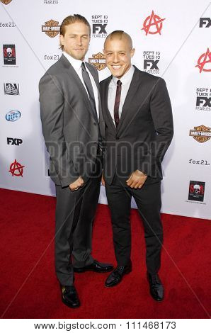Charlie Hunnam and Theo Rossi at the FX's Season 6 Premiere Screening of